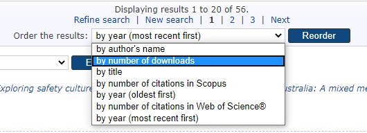 Open access sort results
