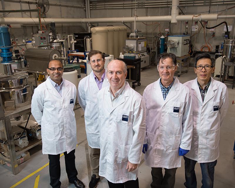 QUT lithium-ion batteries research team