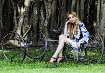 QUT Fashion Student Michaela Lobb Sits On Velo Evolve Furniture By Interior Design Students